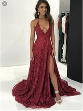 dress,prom,prom dress,burgundy,prom gown,emergency,red dress,in store,red