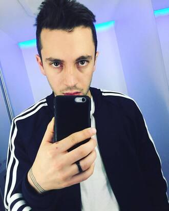 jacket tyler joseph celebrity singer mens jacket mens top sports jacket adidas mens t-shirt white t-shirt black jacket