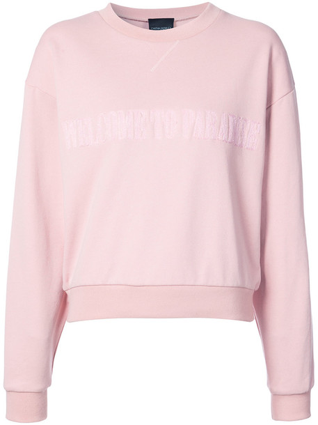 Cynthia Rowley sweatshirt crewneck sweatshirt women cotton purple pink sweater