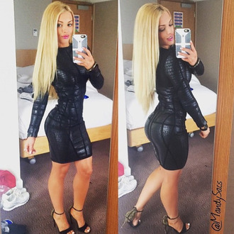 dress bandage dress sexy dress bodycon dress black dress lbd tube mini dress crocodile animal print