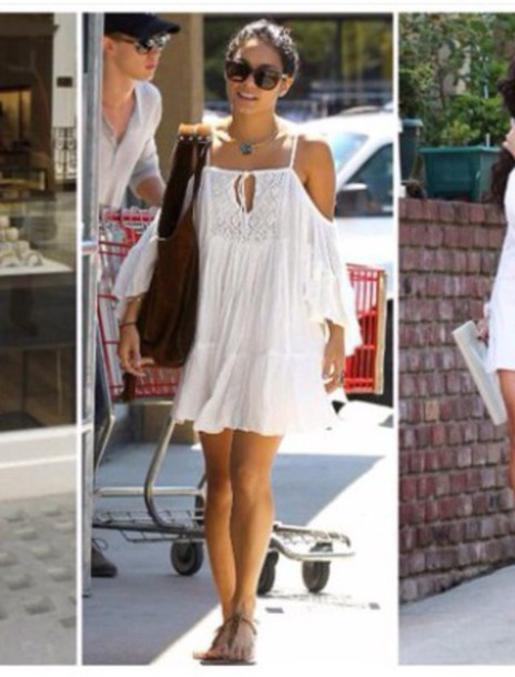 dress white vanessa off-white