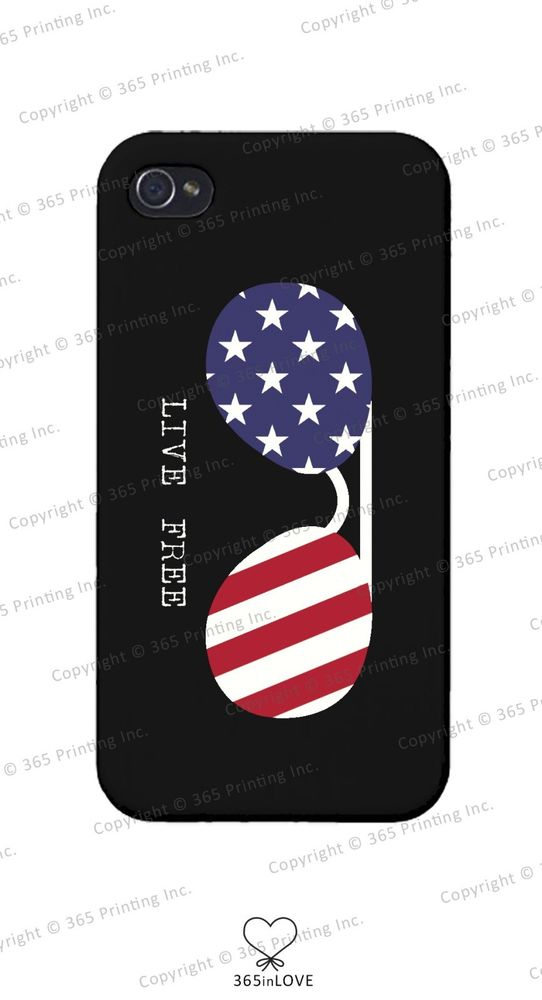 Live Free American Flag Sunglasses Phone Case for iPhone 4 5 5c Galaxy S3 S4 S5 | eBay