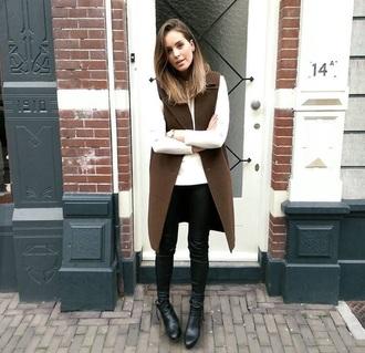 coat too expensive brown long sleeveless