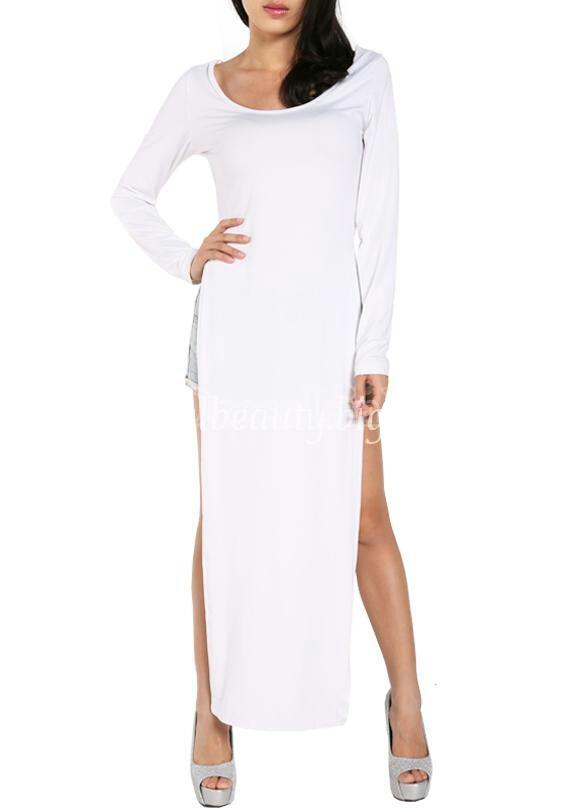 Lethalbeauty ? long sleeve split dress top