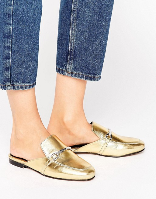 c57600cf24a ASOS MOVIE Leather Mule Loafers at asos.com