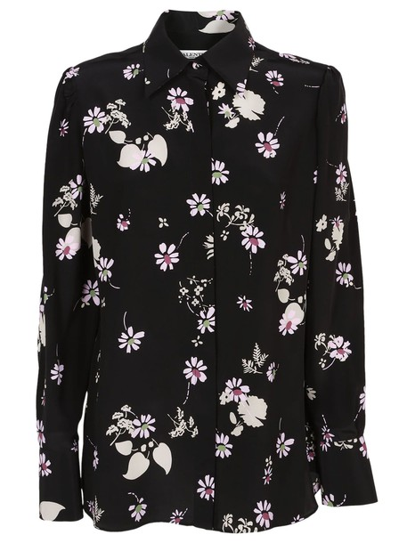 Valentino shirt printed shirt floral black top