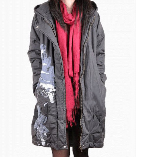 coat padded hooded coat winter coat
