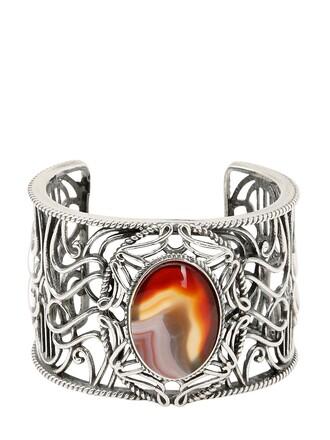 silver orange jewels