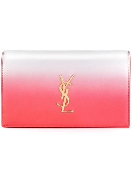 Saint Laurent women clutch purple pink bag