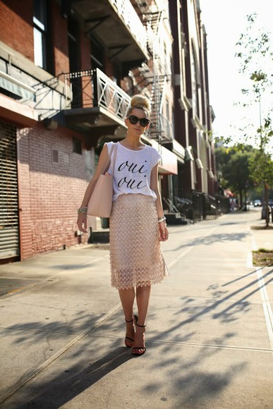 atlantic pacific skirt top shoes bag sunglasses blogger