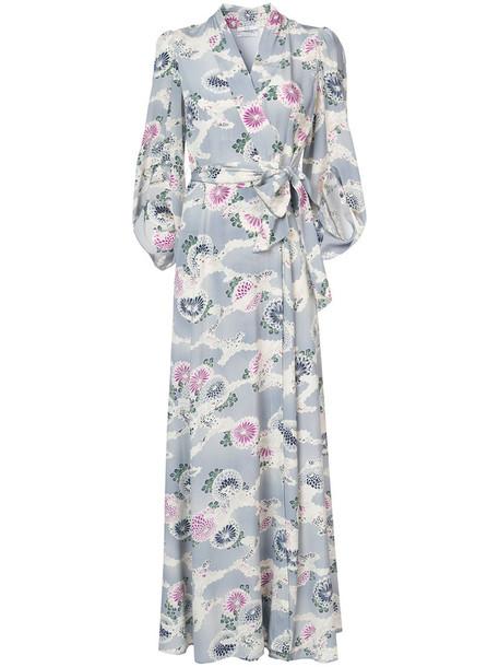 CO dress maxi dress maxi women blue silk