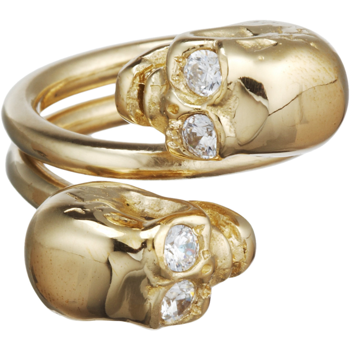 Jennifer Fisher Brass Double Skull Ring at Barneys.com