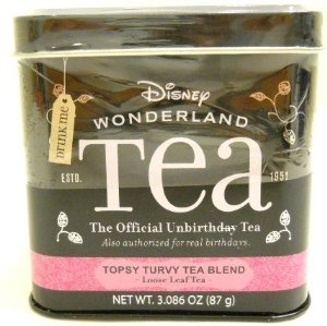 Amazon.com : alice in wonderland the official unbirthday tea disney parks exclusive topsy turvy tea blend loose leaf tea : black teas : grocery & gourmet food
