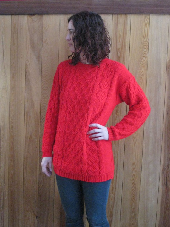 Vintage red siren sweater large by narmster on etsy