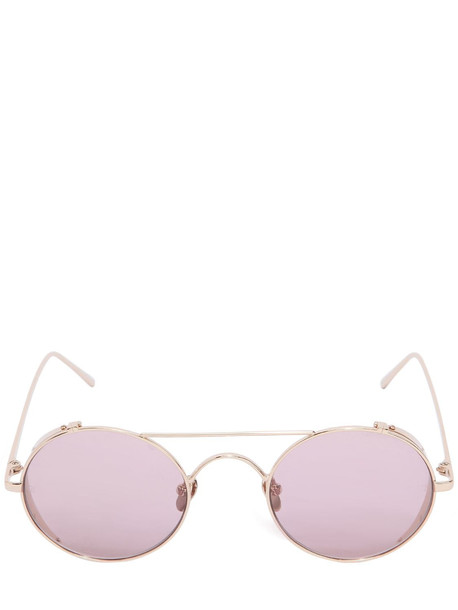 LINDA FARROW 427 C12 Round Sunglasses in pink