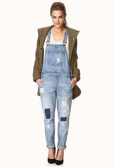 denim pockets jeans overalls skinny jeans patched coat