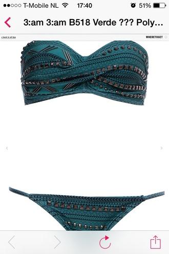 black swimwear bikini stud