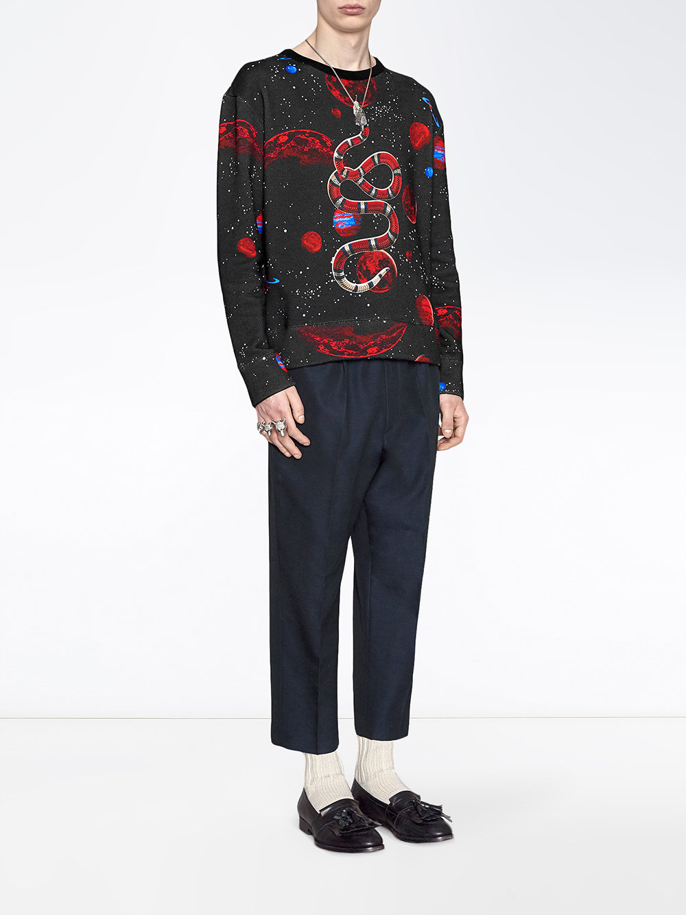 Gucci Space Snake Print Sweatshirt - Farfetch
