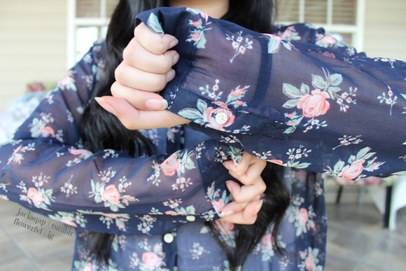 blouse floral tumblr outfit tumblr outfits