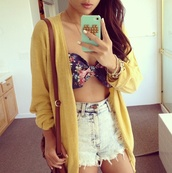 jacket,yellow,instagram,top