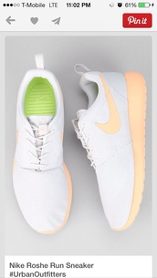 shoes,nike,running,workout,nike roshe run,white,peach,coral,ladies,women's,United Kingdom,roshe runs