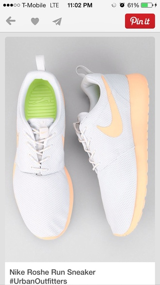 shoes nike running workout nike roshe run white peach coral ladies women's united kingdom roshe runs