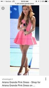 dress,pink,short ariana grande