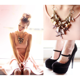 jewels necklace starfish pearl conch accessories chic blogger shoes
