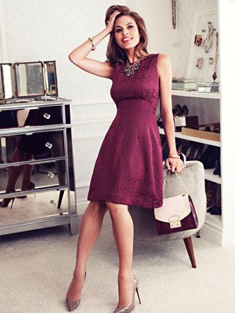 Eva mendes collection maria lace dress
