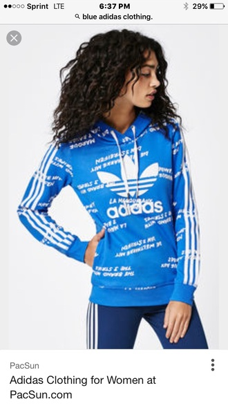 jacket blue adidas sweatshirt