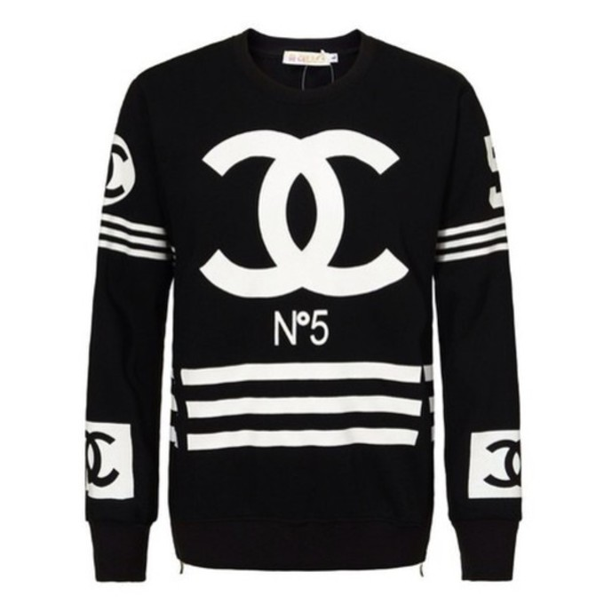 sweater black coco chanel sweater chanel
