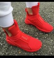 shoes,red puma