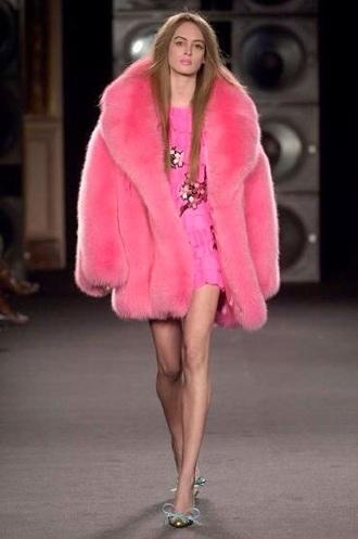 coat pink fluffy fur coat pink fur coat