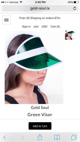 hat headwear visor green visor