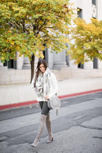 mint arrow blogger top scarf bag shoes