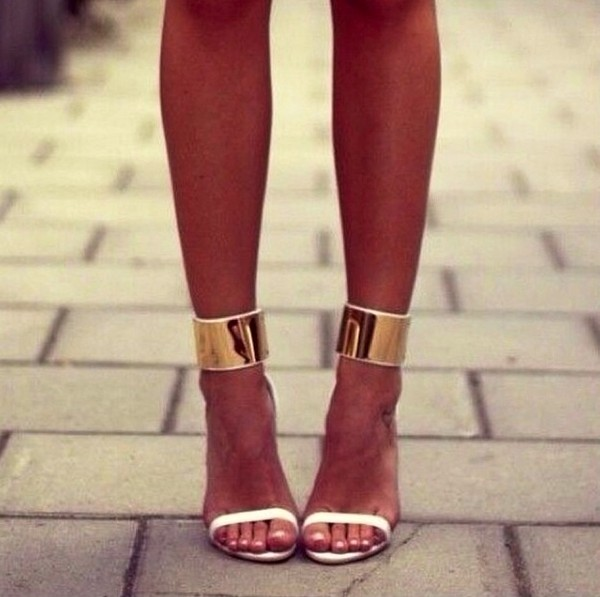 shoes fashion high heels strappy sandals gold party shoes date outfit