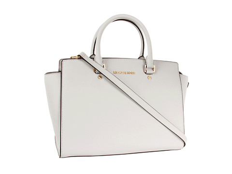 14e1d163c2d8 MICHAEL Michael Kors Selma Large TZ Satchel Optic White - Zappos ...