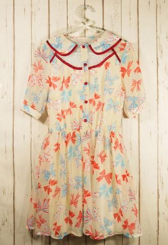 Beloved peter pan ribbons chiffon dress