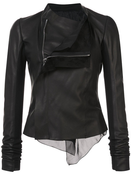 Rick Owens jacket women leather black