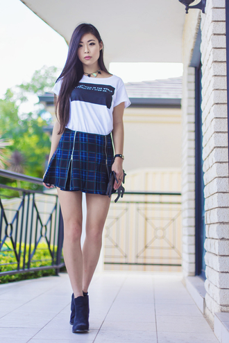 metallic paws blogger t-shirt skirt jewels shoes bag