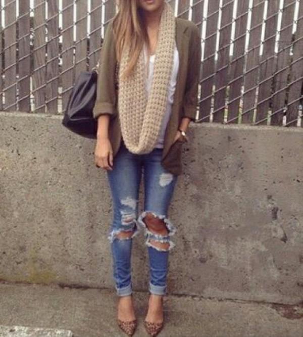 cardigan jacket jeans