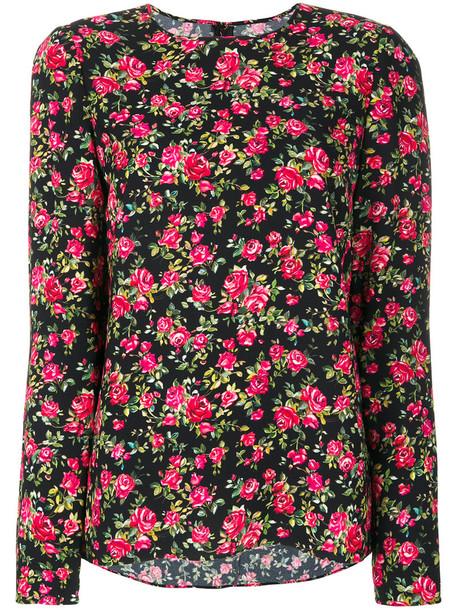 Dolce & Gabbana top women floral print black