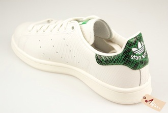 shoes stan smith green snake snakeskin