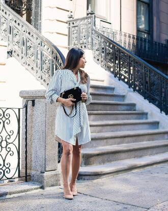 dress tumblr midi dress short dress stripes striped dress sandals sandal heels high heel sandals