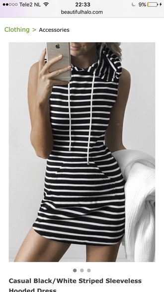 dress casual style stripes fashion summer hoodie trendy cool teenagers short dress summer dress spring basic beautifulhalo