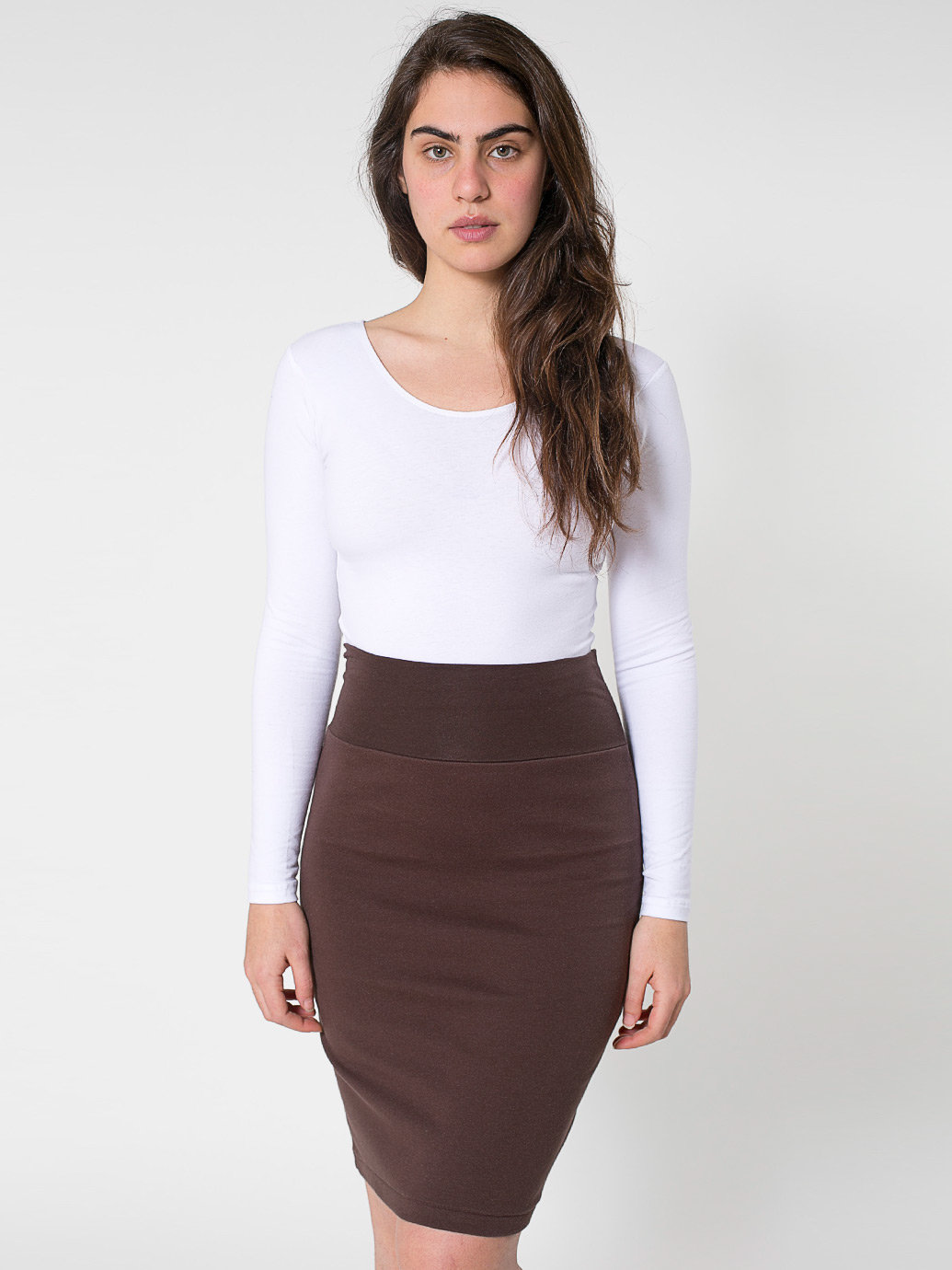 Interlock Pencil Skirt | American Apparel