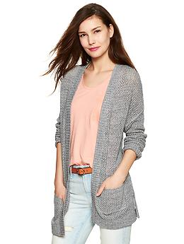 Heathered open-front cardigan | Gap