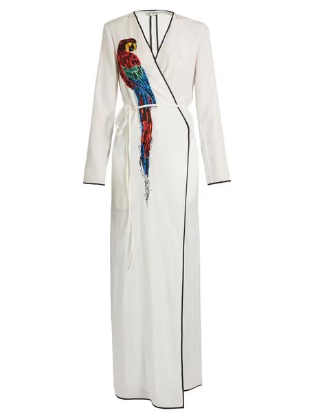 Attico dress wrap dress embellished white print