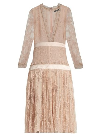 dress tulle dress long embroidered light pink light pink