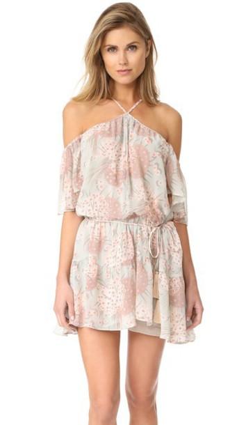 LoveShackFancy dress silk dress silk mint